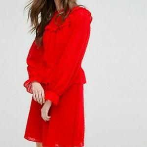 Miss Selfridge Dobby Mesh Dress